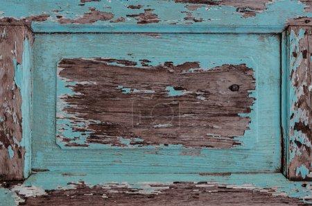 Weathered Old Blue Wooden Frame