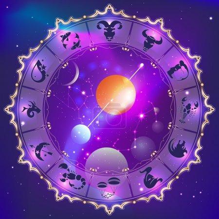 Illustration for Horoscope circle - Royalty Free Image