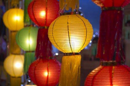 Photo pour Lanternes en papier dans le festival Yee-peng, ChiangMai Thaïlande - image libre de droit
