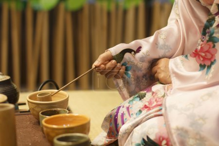 Photo for Japanese tea ceremony culture east beverage - Royalty Free Image
