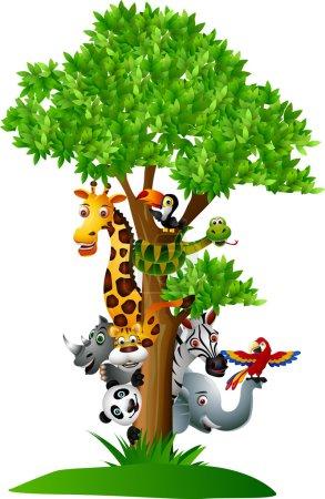 Illustration pour Caricature animale - image libre de droit