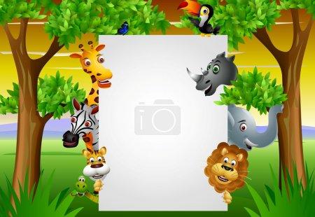 Illustration pour Caricature animalière avec signe vierge - image libre de droit