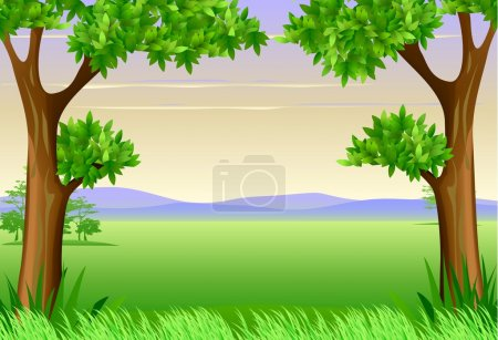 Illustration for Tropical forest background - Royalty Free Image