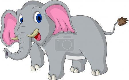 Illustration pour Illustration vectorielle de dessin animé éléphant mignon - image libre de droit