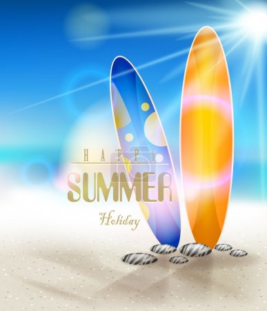 Surfboards on a beach for you design