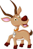 Vector illustration of antelope cartoon for you design