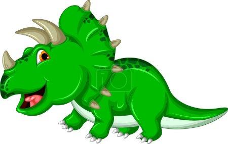 Funny Triceratops dinosaur