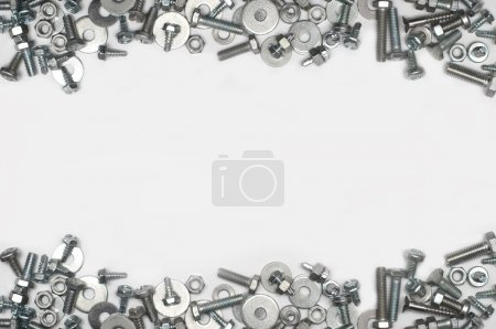 Photo for Screw and bolts backgraund with space for text - Royalty Free Image