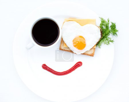 Photo for Scrambled eggs with cheese is a great dish for breakfast - Royalty Free Image
