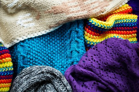 Different knitted fabrics