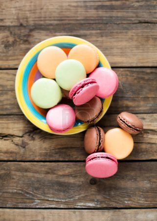 Photo for Many french colorful macaroons on the photo - Royalty Free Image