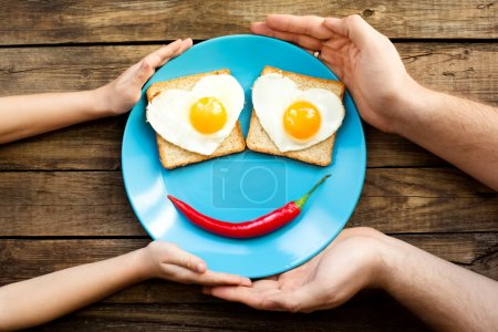 Photo for Funny fried eggs for the brakfast - Royalty Free Image