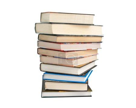 Photo pour Pile de livres isolé sur blanc - image libre de droit