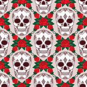Vector pattern with skulls