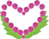 Srdce s květinou