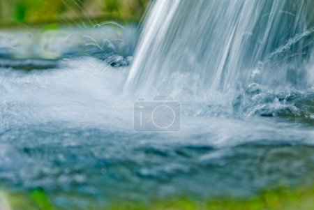 Pure water, fresh and crystalline