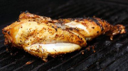 Barbequed half chicken