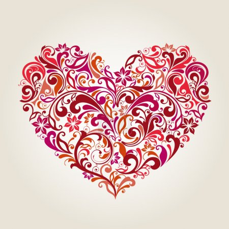 Illustration for Illustration drawing of abstract heart - Royalty Free Image