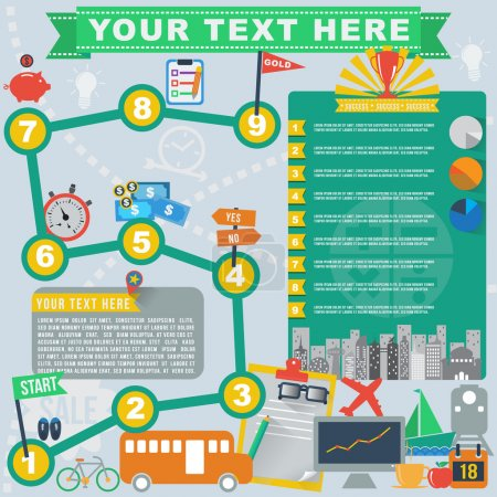 Illustration for Travel business plan infographic, vector format - Royalty Free Image
