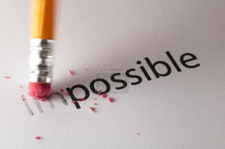Photo for Changing the word impossible to possible. - Royalty Free Image