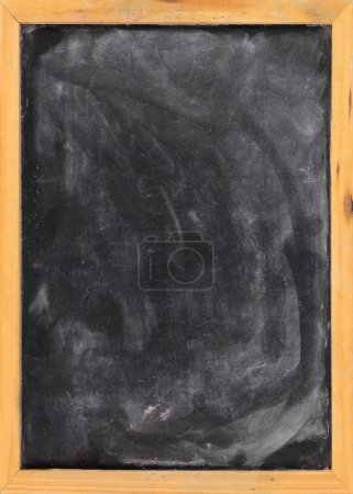 Grunge blank blackboard copyspace with wood frame