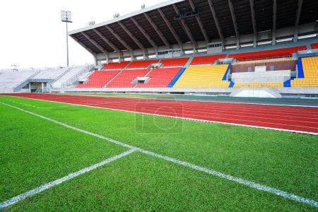 Run race track in sport stadium