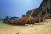 long boat at railay in Krabi, Thailand