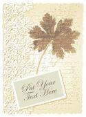 Romantic card with geranium