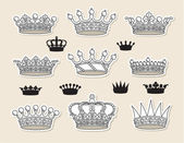 Set vector editable and scalable crowns