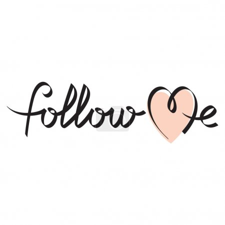 Follow me hand lettering