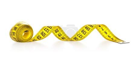 Photo pour Ruban à mesurer isolé sur fond blanc - image libre de droit
