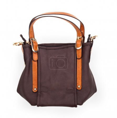 Brown Shoulder bag on white background