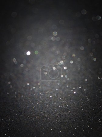 Photo for Silver background. Elegant abstract background with bokeh defocused lights - Royalty Free Image