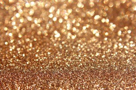 Photo pour Scintille fond doré de Noël de lumières et d'étoiles - image libre de droit