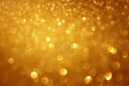 Foto de Luces de Navidad fondo u oro defoucsed oro fondo - Imagen libre de derechos
