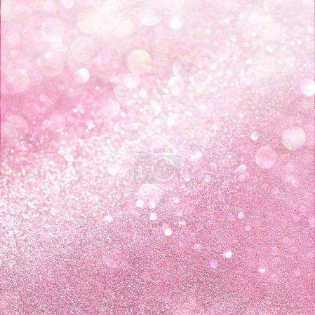 Foto de Blanco y rosa luces bokeh abstractos. fondo desenfocado - Imagen libre de derechos