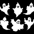Set of halloween ghosts for design isolated on bac...