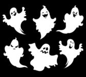 Set of halloween ghosts for design isolated on background such logos