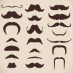 Mustache collection, retro style, vector illustrat...