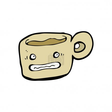 Stressed out cup of coffee cartoon character