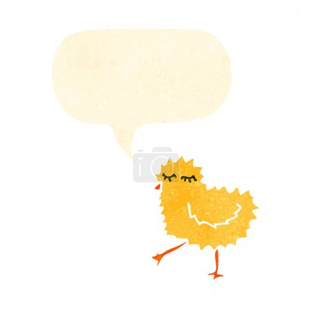 chick with thought bubble