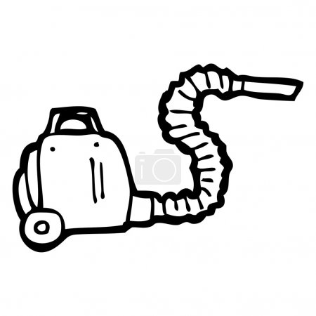 Illustration for Vector, vacuum cleaner cartoon on a white background - Royalty Free Image