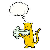 bad breath cat cartoon