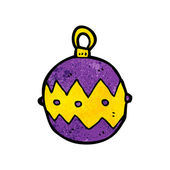 Purple Xmas Bauble