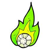 Flaming football cartoon
