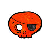 Red Pirate Skull With An Eye Patch