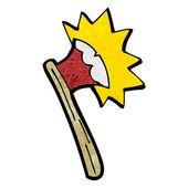 Cartoon sharp axe