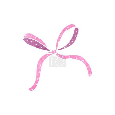 Illustration for Retro cartoon decorative ribbon bow - Royalty Free Image