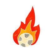 Flaming football cartoon