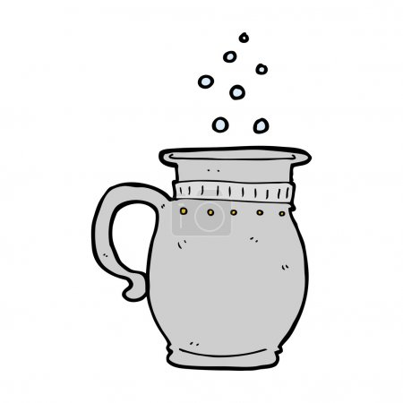 Cartoon pitcher